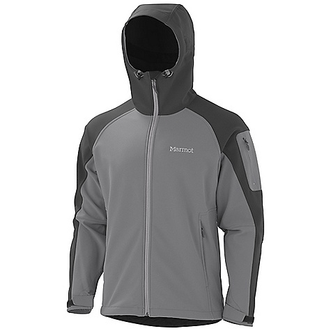 Free Shipping. Marmot Men's Super Gravity Jacket DECENT FEATURES of the Marmot Men's Super Gravity Jacket Marmot M1 Softshell Windproof, Water Resistant, and Breathable Attached Hood with Laminated Brim and Peripheral Cord Zippered Handwarmer Pockets Zippered Sleeve Pocket Adjustable Velcro Cuff Internal Zip Pocket Elastic Draw Cord Hem Angel- Wing Movement The SPECS Weight: 1 lb 12.8 oz / 816.5g Center Back Length: 27.75in. Fit: Regular Softshell WPB 88% Nylon 12% Elastane 9.2 oz/yd - $184.95