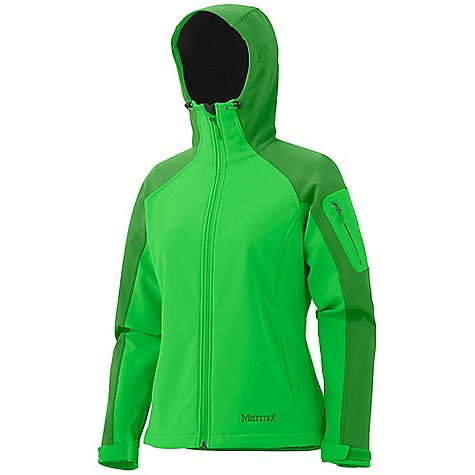 Free Shipping. Marmot Women's Super Gravity Jacket DECENT FEATURES of the Marmot Women's Super Gravity Jacket Marmot M1 Softshell Windproof, Waterproof, and Breathable 4 way Stretch Fabric Attached Hood with Laminated Brim and Peripheral Cord Zippered Handwarmer Pockets Zippered Sleeve Pocket Adjustable Velcro Cuff Interior Zippered Pocket Elastic Draw Cord Hem Angel-Wing Movement The SPECS Weight: 1 lb 10.1 oz / 739.9 g Center Back Length: 25.5in. Fit: Regular Softshell WPB 88% Nylon 12% Elastane 9.2 oz/yd - $184.95
