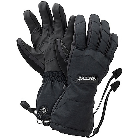 On Sale. Free Shipping. Marmot Moraine Glove DECENT FEATURES of the Marmot Moraine Glove Marmot MemBrain Waterproof/Breathable Insert Thermal R Insulation DriClime Bi-Component Wicking Lining Gauntlet Quick draw Falcon Grip Nose wipe Safety Leash The SPECS Weight: Large: 6.77 oz / 191.9 g Material: 320d 100% Nylon 3.7 oz/yd Reinforcement: Polyurethane 0.7mm Lining: DriClime 3-Dimentional Wicking Lining Insulation: Thermal R Eco Glove Insert: MemBrain Glove Insert - Waterproof, Breathable and Windproof - $37.99