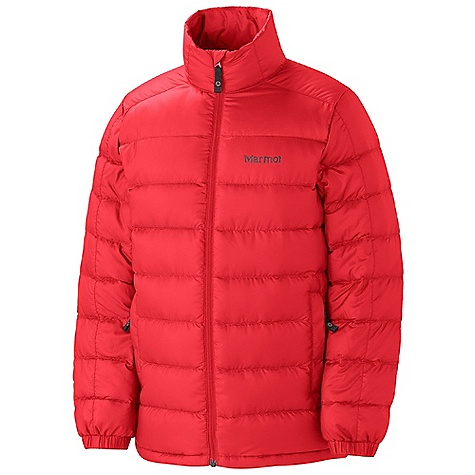 On Sale. Free Shipping. Marmot Boy's Zeus Jacket DECENT FEATURES of the Marmot Boys' Zeus Jacket Ultra Light Down Proof Fabric 650 Goose Down Fill Power Elastic Draw Cord Hem Zippered Hand warmer Pockets Elastic Cuffs Angel-Wing Movement Wind Flap Behind Front Zipper The SPECS Weight: 8.6 oz / 243.8 g Material: 100% Polyester DWR Ripstop 1.2 oz/yd Center Back Length: 22.5in. Fit: Regular - $73.99