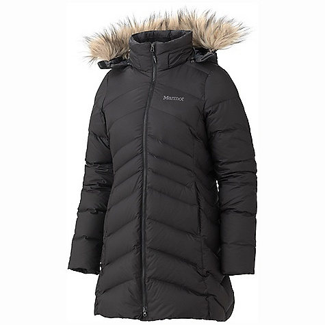 Free Shipping. Marmot Women's Montreal Coat DECENT FEATURES of the Marmot Women's Montreal Coat Zip-off Down Filled Hood with Removable Fur Ruff Micro Fleece Lined Zip Handwarmer Pocket Inside Zip Pocket Interior Drop Pocket Plush Fleece Lined Torso Micro Fleece Internal Cuffs The SPECS Weight: 2lbs 2.2 oz / 969.6 g Material: 100% Polyester DWR 1.8 oz/yd Center Back Length: 33in. Fit: Regular - $284.95