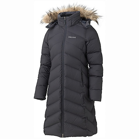 On Sale. Free Shipping. Marmot Women's Montreaux Coat DECENT FEATURES of the Marmot Women's Montreaux Coat Zip-off Down Filled Hood with Removable Fur Ruff Micro Fleece Lined Zip Handwarmer Pocket Interior Zippered Pocket Interior Drop Pocket Plush Fleece Lined Torso Micro Fleece Internal Cuffs The SPECS Weight: 2lbs 5.2 oz / 1054.6 g Material: 100% Polyester DWR 1.8 oz/yd Center Back Length: 41.75in. Fit: Regular - $239.99