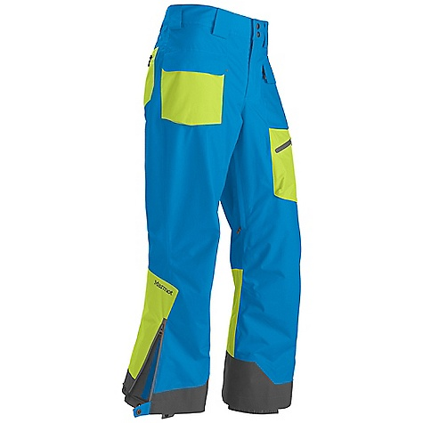 Free Shipping. Marmot Men's Mantra Pant DECENT FEATURES of the Marmot Men's Mantra Pant Marmot MemBrain Waterproof/Breathable Fabric 100% seam taped 2-layer construction Zippered Hand Pockets Cargo Pocket with Water Resistant Zipper Zippered Back Pockets with W/R Zippers Adjustable Snap Closure Waist with Fly Zip Interior Zippered Leg Vents Ankle Zips with W/R Zippers Internal Gaiters with Gripper Elastic Articulated Knees Cordura Scuff Guard The SPECS Weight: 1 lb 13 oz / 822.1 g Fit: Loose MemBrain 10 100% Nylon Oxford 5.4 oz/yd - $224.95