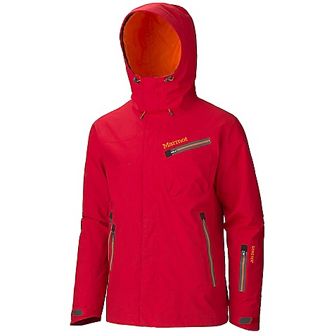 Free Shipping. Marmot Men's Freerider Jacket DECENT FEATURES of the Marmot Men's Freerider Jacket Gore-Tex Fabric. Guaranteed to Keep You Dry 100% seam taped 2-layer construction Attached Storm Hood with Laminated Brim PitZips Chest Pocket with Water-Resistant Zipper Handwarmer Pockets with Water Resistant Zipper Stow Pocket with W/R Zip Waist Pass Pocket with Water Resistant Zip Zip-off Powder Skirt Zippered Sunglass Pocket Mesh Gear Pocket Mesh Goggle Pocket HD Brushed Tricot Collar and Shoulder Lining Elastic Draw Cord Hem Adjustable Velcro Cuff Angel-Wing Movement The SPECS Weight: 1 lb 14.3 oz / 859 g Center Back Length: 29in. Fit: Regular Gore-Tex Pro Products 2L 100% Nylon 4.7 oz/yd - $449.95