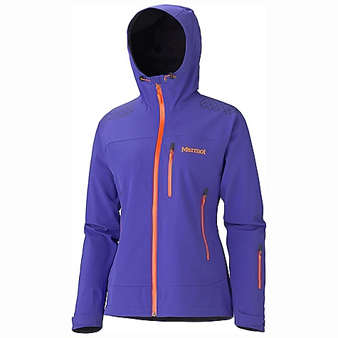 On Sale. Free Shipping. Marmot Women's Zion Jacket DECENT FEATURES of the Marmot Women's Zion Jacket Polartec Neo Shell Waterproof/Breathable Stretch Softshell Fabric Marmot M1 Softshell 100% Seam Taped Attached Storm Hood with Laminated Brim Water-Resistant CF Zipper Chest Pocket with Water-Resistant Zipper Pack Pockets with Water-resistant Zippers Sleeve Pocket with Water-Resistant Zipper Asymmetric Cuffs with Velcro Adjustment Interior Zippered Pocket Elastic Draw Cord Hem Angel-Wing Movement The SPECS Weight: 1 lb 6.4 oz / 635 g Center Back Length: 26in. Fit: Athletic Polartec Neo Shell 79% Polyester 14% Polyurethane 7% Elastane 8.0 oz/yd - $307.99
