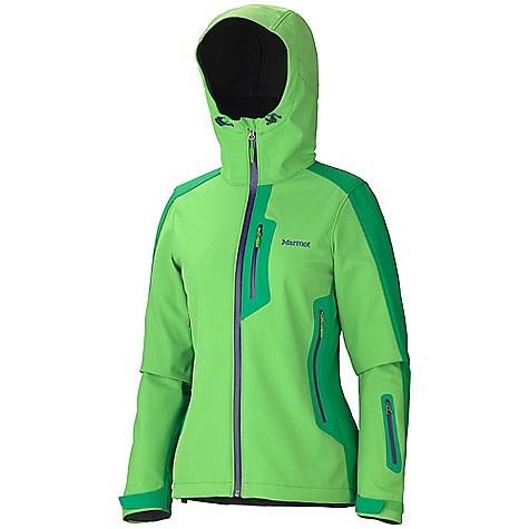 On Sale. Free Shipping. Marmot Women's Reyna Jacket DECENT FEATURES of the Marmot Women's Reyna Jacket Polartec Power-shield Marmot M2 Softshell Windproof, Water Resistant, and Breathable Attached Hood with Laminated Brim and Peripheral Cord Water-Resistant CF Zipper Chest Pocket with Water- Resistant Zipper Pack Pockets with Water-resistant Zippers Sleeve Pocket with Water-Resistant Zipper Asymmetric Cuffs with Velcro Adjustment Interior Zippered Pocket Elastic Draw Cord Hem Angel-Wing Movement The SPECS Weight: 1 lb 2.7 oz / 530.1 g Material: Softshell W PB 100% Nylon Plain Weave7.7 oz/yd, PolartecPower Shield 88%Nylon, 12% Elastane 6.1 oz/yd Center Back Length: 26in. Fit: Athletic - $205.99