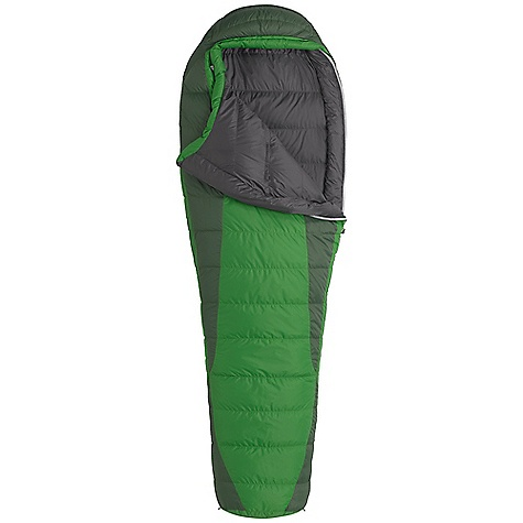 Camp and Hike On Sale. Free Shipping. Marmot Never Winter 30 Sleeping Bag DECENT FEATURES of the Marmot Never Winter Sleeping Bag Certified 600+ Fill Power Goose Down EN Tested Nautilus 5-Baffle Hood Heater Pocket in Foot Box in.Feelyin. Draw Cords Classic Trapezoidal Foot Box Ground-Level Side Seams Hood Draw Cord Locking Zippers Stash Pocket Stretch Tricot Baffles Two Hang Loops Stuff and Storage Sack Included Zipper Garage Velcro-free Face Muff Two Way Zipper Sliders Zipper Guards The SPECS Temperature Rating: 30deg F / -1deg C Comfort: 41.4deg F / 5.2deg C Lower Limit: 32.4deg F / 0.2deg C Extreme: 4.5deg F / -15.3deg C Zip Option: LZ, RZ Loft: 4in. Stuff Sack: 8.5 x 8.5in. / 22 x 45.7 cm Material: 100% Nylon Ripstop AC 1.3 oz/yd, 100% Nylon WR 1.4 oz/yd Lining: 100% Nylon Plain Weave WR 1.3 oz/yd Insulation: 600+ Fill Power Goose Down The SPECS for Regular Weight: 2 lbs 7 oz / 1106 g Fill Weight: 12 oz / 340 g Girth: 62in. / 157.48 cm Hip: 58in. / 147.32 cm Foot: 40in. / 101.6 cm Size: 6'0in. The SPECS for Long Weight: 2 lbs 10 oz / 1191 g Fill Weight: 14 oz / 397 g Girth: 64in. / 162.56 cm Hip: 60in. / 152.4 cm Foot: 42in. / 106.68 cm Size: 6'6in. - $189.99