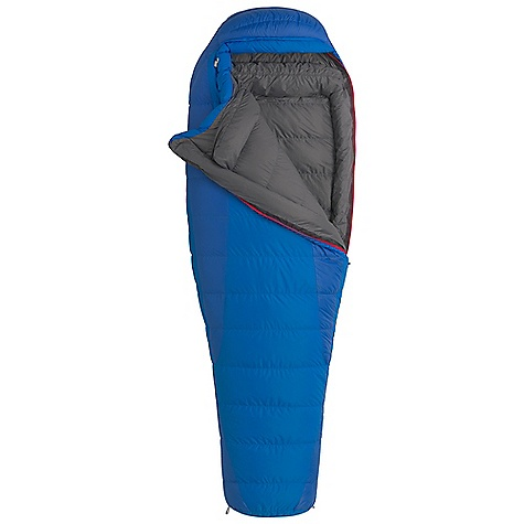 Camp and Hike On Sale. Free Shipping. Marmot Women's Teton 15 Sleeping Bag DECENT FEATURES of the Marmot Women's Teton 15 Sleeping Bag Certified 600+ Fill Power Goose Down EN Tested Women's Specific Fit - More Insulation in Key Areas Down-filled Collar with Easy Access Draw Cord Heat Bump Draft Tube Classic Trapezoidal Foot Box in.Feelyin. Draw Cords Ground-Level Side Seams Heater Pocket in Foot Box Locking Zippers Nautilus 5-Baffle Hood Stash Pocket Stretch Tricot Baffles Stuff and Storage Sack Included Two Hang Loops Two Way Zipper Sliders Velcro-free Face Muff Zipper Guards The SPECS Temperature Rating: 15deg F / -9deg C Comfort: 17.4deg F / -8.1deg C Lower Limit: 4.5deg F / -15.3deg C Extreme: -32.3deg F / -35.7deg C Zip Option: LZ, RZ Loft: 7in. Stuff Sack: 7.5 x 7.5in. / 19 x 40.6 cm Material: 100% Nylon Ripstop AC 1.3 oz/yd, 100% Nylon WR 1.4 oz/yd Lining: 100% Nylon Plain Weave WR 1.3 oz/yd Insulation: 600+ Fill Power Goose Down The SPECS for Regular Weight: 3 lbs 8 oz / 1590 g Fill Weight: 30 oz / 876 g Girth: 58in. / 147.3 cm Hip: 58in. / 147.3 cm Foot: 38in. / 96.5 cm Size: 5'6in. The SPECS for Long Weight: 3 lbs 12 oz / 1687 g Fill Weight: 32 oz / 907 g Girth: 60in. / 152.4 cm Hip: 60in. / 152.4 cm Foot: 40in. / 101.6 cm Size: 6'6in. - $223.99