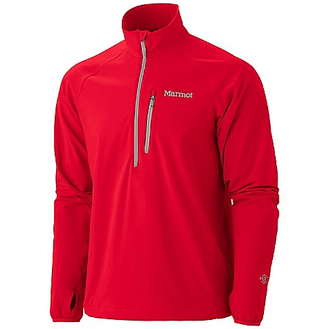 Free Shipping. Marmot Men's Tempo 1-2 Zip DECENT FEATURES of the Marmot Men's Tempo 1/2 Zip Marmot M3 Softshell Water Repellent and Breathable Zippered Chest Pocket with Headphone Port Elastic Bound Cuffs with Thumb Holes Elastic Draw Cord Hem Angel-Wing Movement The SPECS Weight: 15.9 oz / 450.8 g Material: Softshell Double Weave 90% Polyester 10% Elastane Stretch 7.3 oz/yd Center Back Length: 27in. Fit: Regular - $94.95