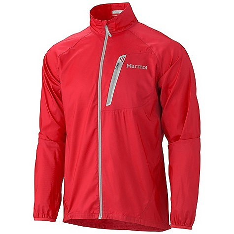 Camp and Hike Free Shipping. Marmot Men's Trail Wind Jacket FEATURES of the Marmot Men's Trail Wind Jacket Wind Resistant, Water Repellent, and Breathable Ultra Light Construction Zip Chest Pocket with Reflective Trim Packs into Pocket Active Venting Lycra Bound Cuffs Reflective Logos Elastic Draw Cord Hem Angel-Wing Movement - $79.95