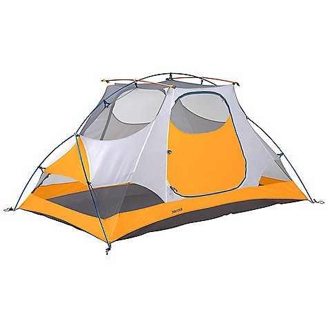 Camp and Hike Free Shipping. Marmot Firefly 2 Person Tent DECENT FEATURES of the Marmot Firefly 2 Person Tent Hanging Organizer and Footprint Included DAC Press-Fit Poles Full Coverage Fly Vestibule Window Weld Bare Bones Setup Catenary Cut Floor Jingle-Free Nylon Zipper Pulls Light-Reflective Points Snag-Free Zipper Flap Multiple Pockets The SPECS Capacity: 2 Person Floor Area: 34.5 square feet / 3.2 square meter Minimum Weight: 5 lbs 9 oz / 2518 g Pack Weight: 6 lbs 4 oz / 2832 g Bare Bones Weight: 3 lbs 14 oz / 1750 g Dimension: 43 x 54 x 93in. / 109 x 137 x 234 cm Vestibules: 2 Vestibule Area: 16.82 square feet / 1.6 square meter, 9.3 square feet / 0.9 square meter Doors: 2 Pole Type: 3 / DAC Press-Fit 9.0mm Stuff Sack Size: 23.5 x 7.5in. / 60 x 19 cm Fly Fabric: 68d 100% Polyester Ripstop 1800mm, W/R, F/R Canopy Fabric: 68d 100% Polyester Ripstop, F/R Floor Fabric: 70d 100% Nylon PU 3000mm W/R, F/R - $318.95