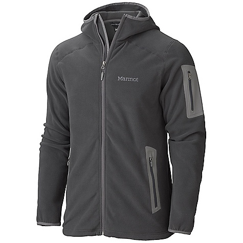 Free Shipping. Marmot Men's Reactor Hoody DECENT FEATURES of the Marmot Men's Reactor Hoody Polartec Classic 100 Micro Attached Hood Flat Lock Construction Bonded Zippered Sleeve Pocket Zippered Handwarmer Pockets Elastic Bond Cuffs Interior Zipper Pocket with Headphone Port Elastic Draw Cord Hem Angel-Wing Movement The SPECS Weight: 1 lb 0.2 oz / 459.3 g Center Back Length: 28in. Fit: Regular Polartec Classic 100 100% Polyester Micro Fleece 4.6 oz/yd - $124.95