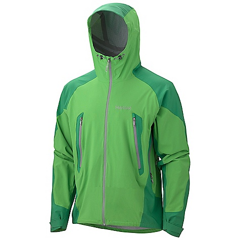 On Sale. Free Shipping. Marmot Men's Stretch Man Jacket DECENT FEATURES of the Marmot Men's Stretch Man Jacket Marmot MemBrain 2.5 Waterproof/Breathable Fabric 100% Seam Taped 4-Way Stretch Fabric Attached Adjustable Hood with Laminated Wire Brim Water Resistant Front Zipper Core Zonal Venting with Two-Way Water-Resistant Zippers Pack Pockets with Water-resistant Zippers Internal Zippered Pocket Asymmetric Cuffs Reflective Logos Elastic Draw Cord Hem Angel-Wing Movement The SPECS Weight: 13 oz / 368.5 g Material: MemBrain Strata 100% Nylon Stretch 3.0 oz/yd MemBrain Strata 100% Nylon Stretch 3.8 oz/yd Center Back Length: 29in. Fit: Athletic - $154.99