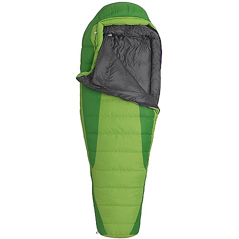Camp and Hike On Sale. Free Shipping. Marmot Women's Angel Fire 25 Sleeping Bag DECENT FEATURES of the Marmot Women's Angel Fire 25 Sleeping Bag Certified 600+ Fill Power Goose Down EN Tested Women's Specific Fit - More Insulation in Key Areas Down-filled Collar with Easy Access Draw Cord Heat Bump Draft Tube Classic Trapezoidal Foot Box in.Feelyin. Draw Cords Ground-Level Side Seams Heater Pocket in Foot Box Hood Draw Cord Locking Zippers Nautilus 6-Baffle Hood Stash Pocket Stretch Tricot Baffles Stuff and Storage Sack Included Two Hang Loops Two Way Zipper Sliders Velcro-free Face Muff Zipper Guards The SPECS Temperature Rating: 25deg F / -4deg C Comfort: 26.1deg F / -3.3deg C Lower Limit: 14.5deg F / -9.7deg C Extreme: -19.1deg F / -28.4deg C Zip Option: LZ, RZ Loft: 5in. Stuff Sack: 7.5 x 7.5in. / 19 x 40.6 cm Material: 100% Nylon Ripstop AC 1.3 oz/yd, 100% Nylon WR 1.4 oz/yd Lining: 100% Nylon Plain Weave WR 1.3 oz/yd Insulation: 600+ Fill Power Goose Down The SPECS for Regular Weight: 2 lbs 15.63 oz / 1350 g Fill Weight: 22 oz / 624 g Girth: 58in. / 147.3 cm Hip: 58in. / 147.3 cm Foot: 38in. / 96.5 cm Size: 5'6in. The SPECS for Long Weight: 3 lbs 3 oz / 1446 g Fill Weight: 24 oz / 680 g Girth: 60in. / 152.4 cm Hip: 60in. / 152.4 cm Foot: 40in. / 101.6 cm Size: 6'6in. - $185.99