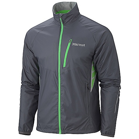 On Sale. Free Shipping. Marmot Men's Atomic Jacket DECENT FEATURES of the Marmot Men's Atomic Jacket Pertex Stretch Fabric Water Repellent and Breathable Stretch Dri-Clime Bi-Component Wicking Lining Zip Chest Pocket Zippered Hand Pockets Active Venting Collar with Adjustment Cord Interior Chest Pocket with Media Port Elastic Bond Cuffs Reflective Logos for 360 Degree Reflectivity Elastic Draw Cord Hem Angel-Wing Movement The SPECS Weight: 9.02 oz / 255.7 g Center Back Length: 28in. Fit: Athletic Fit Material: 100% Nylon Stretch Mini Ripstop 1.1 oz/yd - $73.99