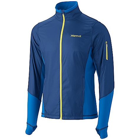 On Sale. Free Shipping. Marmot Men's Fusion Jacket DECENT FEATURES of the Marmot Men's Fusion Jacket Marmot M2 Softshell Windproof, Water Resistant, and Breathable Zonal Placed Interior DriClimeMesh Wicking Lining Zip Chest Pocket Zippered Hand Pockets 360 Reflectivity Elastic Bound Cuffs with Thumb Holes Media Port Elastic Draw Cord Hem Angel-Wing Movement The SPECS Weight: 8.8 oz / 249.5 g Center Back Length: 28in. WP Softshell 79% Polyester 21% PU Stretch with DriClime Technology 3.4 oz/yd 86% Polyester 14% Elastane 4.0 oz/yd - $81.99