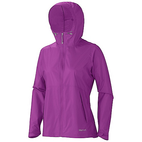 On Sale. Free Shipping. Marmot Women's Crystalline Jacket DECENT FEATURES of the Marmot Women's Crystalline Jacket Marmot MemBrain Strata Waterproof/Breathable Fabric 100% Seam Taped Attached Adjustable Hood Water Resistant Hood Packs into Pocket Reflective Logos Adjustable Velcro Cuff Elastic Draw Cord Hem Angel-Wing Movement The SPECS Weight: 6.2 oz / 175.8 g Material: MemBrain Strata 100% Nylon Ripstop 2.2 oz/yd Center Back Length: 26.25in. Fit: Regular - $81.99