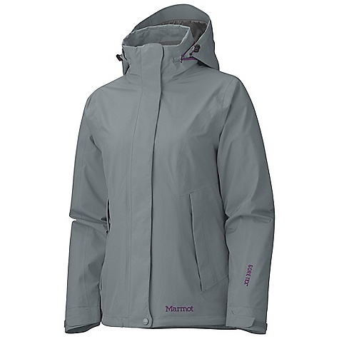 On Sale. Free Shipping. Marmot Women's Vegabond jacket DECENT FEATURES of the Marmot Women's Vegabond jacket Gore-Tex 2-Layer Fabric 100% Seam Taped Attached Hood Rolls Into Collar PitZips Zip Hand Pockets Zippin Compatible Interior Zippered Pocket Paneled Mesh Lining DriClime Lined Collar Elastic Draw Cord Hem The SPECS Weight: 1 lb 3.3 oz / 547.1 g Fit: Regular Fit Material: Gore-Tex Performance 2L 100% Nylon 2.9 oz/yd - $209.99