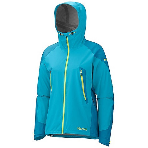 Free Shipping. Marmot Women's Athena Jacket DECENT FEATURES of the Marmot Women's Athena Jacket Marmot MemBrain 2.5 Strata Waterproof/Breathable Fabric 100% Seam Taped 4 Way Stretch Fabric Attached Adjustable Hood with Reinforced Laminated Wire Brim Water Resistant Front Zipper Core Zonal Venting with Two-Way Water-Resistant Zippers Pack Pockets with Water-resistant Zippers Interior Zippered Pocket Asymmetric Cuffs with Velcro Adjustment Reflective Logos Elastic Draw Cord Hem Angel-Wing Movement The SPECS Weight: 13.1 oz / 371.4 g Material: MemBrain Strata 100% Nylon Stretch 3.0 oz/yd MemBrain Strata 100% Nylon Stretch 3.8 oz/yd Center Back Length: 26in. Fit: Athletic - $259.95