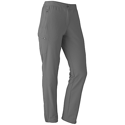 On Sale. Free Shipping. Marmot Women's Scree Pant DECENT FEATURES of the Marmot Women's Scree Pant Marmot M3 Softshell Water Repellent and Breathable Zippered Hand Pockets Zippered Thigh Pocket Elastic Waist with Snap Closure and Zip Fly Ankle Zippers The SPECS Weight: 14 oz / 396.9 g Material: Softshell Double Weave 90% Nylon 10% Elastane Stretch 6.3 oz/yd Fit: Athletic Inseam: short: 29in., Regular: 31in. - $64.99