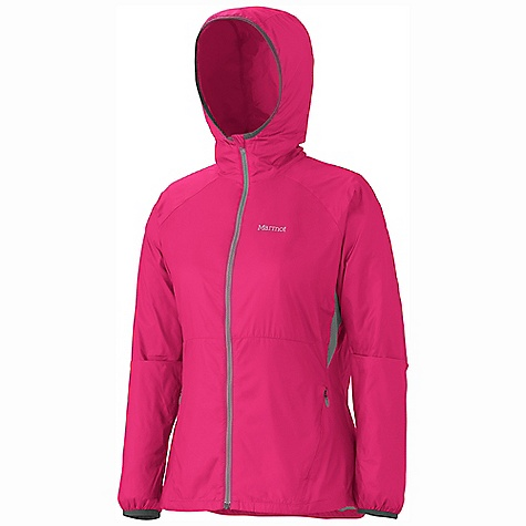 Free Shipping. Marmot Women's Ether DriClime Top DECENT FEATURES of the Marmot Women's Ether DriClime Top Wind Resistant, Water Repellent, and Breathable Ultra Light Construction DriClime Bi-Component Wicking Lining Attached Roll-Up Hood Hand Pockets with Concealed Zippers Internal Zip Pocket Packs into Pocket Mesh Vents Elastic Cuffs Reflective Logos Elastic Draw Cord Hem Angel-Wing Movement The SPECS Weight: 7.57 oz / 214.6 g Center Back Length: 25.75in. Fit: Athletic 100% Nylon Ripstop DWR 1.1 oz/yd - $114.95