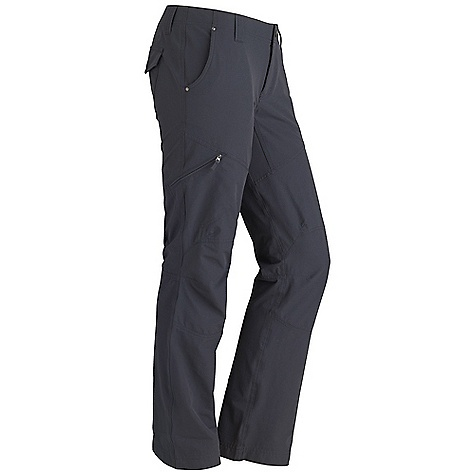Free Shipping. Marmot Women's Sonia Pant DECENT FEATURES of the Marmot Women's Sonia Pant Blue Sign Approved Fabric Lightweight, Comfortable, Stretch Performance Woven Fabric Ultraviolet Protection Factor (UPF) 40 Abrasion Resistant Nylon Fabric Quick-Drying and Wicking Stretch for Increased Mobility and Comfort Durable Water-Resistant Finish (DWR) Contoured Waistband for added shape Articulated Knees Inseam Gusset Panel for Increased Mobility Zipper Secure Side Pocket Back Pockets with Snap Closure DriClime Interior Waistband for Added Comfort The SPECS Weight: 11.99 oz / 339.9 g Material: 94% Nylon 6% Elastane 4.8oz/yd Fit: Slim Inseam: 32in. - $84.95
