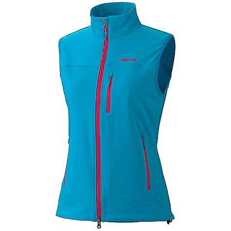 Free Shipping. Marmot Women's Tempo Vest DECENT FEATURES of the Marmot Women's Tempo Vest Marmot M3 Softshell Water Repellent and Breathable Zippered Chest Pocket with Headphone Port Zippered Hand Pockets Elastic Draw Cord Hem Angel- Wing Movement The SPECS Weight: 11 oz / 311.8 g Material: Softshell Double Weave 90% Polyester 10% Elastane Stretch 7.3 oz/yd Center Back Length: 24.50in. - $89.95