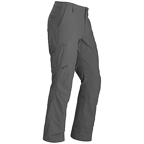 On Sale. Free Shipping. Marmot Men's Matthews Pant DECENT FEATURES of the Marmot Men's Matthews Pant Blue Sign Approved Fabric Light-Weight Performance Durable Nylon Woven Fabric Ultraviolet Protection Factor (UPF) 50 Abrasion Resistant Nylon Quick-Drying and Wicking Gusseted Crotch for Increased Mobility Articulated Knees Reinforced Hem and Back Pockets for Durability Fixed Waist Pant with Front Slash Pockets and Secure Side Pocket with Zip Closure Brushed Tricot Interior Waistband for Added Comfort The SPECS Weight: 12.34 oz / 349.8 g Fit: Relaxed Inseam: 32in. Material: 100% Nylon Ottoman 4.7oz/ yd - $62.99