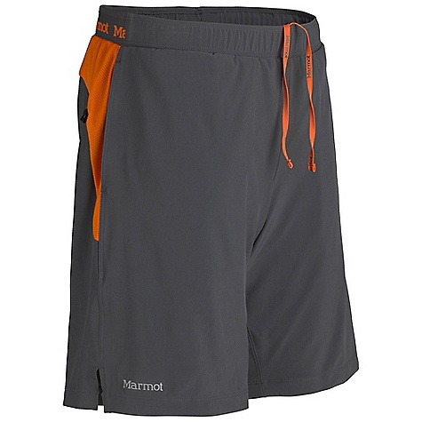 Free Shipping. Marmot Men's Ascend Short DECENT FEATURES of the Marmot Men's Ascend Short Blue Sign Approved Fabric Light Weight, Breathable, Stretch Woven Performance Fabric Ultraviolet Protection Factor (UPF) 30 Compression Fit Interior Brief Quick-Drying and Wicking Stretch for Increased Mobility Mesh Panels for Increased Breathability Elastic waist with Internal Drawcord for Adjustability 2 Front Hand Pockets with Zipper Secure Back Pocket Reflective Logos The SPECS Weight: 6.7 oz / 189.9 g Material: 86% Polyester, 14% Elastane Plain Weave 2.7 oz/yd 100% Polyester Mesh 5 oz/yd Fit: Regular Inseam: 9in. - $54.95