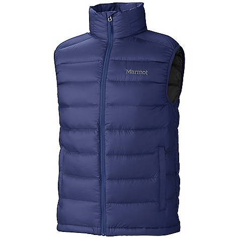 Free Shipping. Marmot Men's Zeus Vest DECENT FEATURES of the Marmot Men's Zeus Vest Ultralight Down-proof Fabric 800 Fill Power Goose Down Zippered Hand Pockets Elastic Draw Cord Hem Packs into Pocket The SPECS Weight: 10.1 oz / 286.3 g Center Back Length: 27in. Fit: Regular 100% Polyester DWR Mini Ripstop 1.2 oz/yd - $149.95