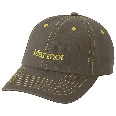 Marmot Twill Cap DECENT FEATURES of the Marmot Twill Cap Mesh Sweatband Fitted Cap with Elastic Panel at Back for Comfort The SPECS Weight: 3.3 oz / 93.6 g Material: 96% Nylon, 4% Elastane Plain Weave 4.5 oz/yd - $25.00