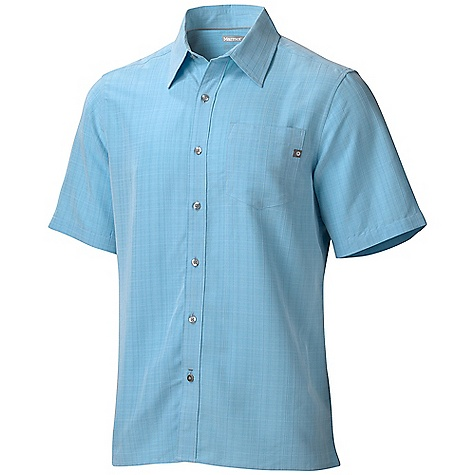 Fitness Free Shipping. Marmot Men's El Dorado SS Top DECENT FEATURES of the Marmot Men's El Dorado Short Sleeve Top Soft, Sanded, Breathable Mid-Weight Fabric Ultraviolet Protection Factor (UPF) 20 Marmot Up Cycle Product with Recycled Polyester Durable Flat Felled Seams with Contrast Interior Stitch Straight Hem and Single Patch Pocket Tag-Free Neckline The SPECS Weight: 8.47 oz / 240.1 g Fit: Regular Fit Material: 70% Polynosic Rayon 30% Recycled Polyester 4.5 oz/yd - $58.00