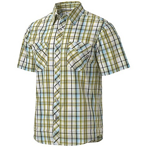 Free Shipping. Marmot Men's Ellwood SS Top DECENT FEATURES of the Marmot Men's Ellwood Short Sleeve Top Light Weight Certified Organic Cotton Durable Flat Felled Seams with Contrast Interior Stitch Shirt Tail Hem, Double Chest Pockets and Novelty Back Yoke on Bias Garment Washed for Soft Hand The SPECS Weight: 7.05 oz / 199.9 g Fit: Semi-Fitted Material: 100% Certified Organic Cotton Plain Weave 3.6 oz/yd - $60.00