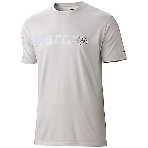 On Sale. Marmot Men's Marmot Logo SS Tee DECENT FEATURES of the Marmot Men's Marmot Logo Short Sleeve Tee Soft, Comfortable, Light Weight Certified Organic Cotton Jersey Knit Fabric Graphic Tee with Center Front Logo Tag-Free Neckline The SPECS Weight: 5 oz / 141.7 g Fit: Regular Material: 100% Certified Organic Cotton 5.5oz/yd - $18.99