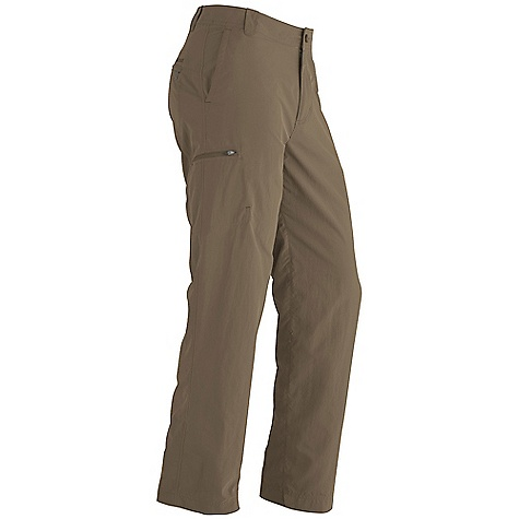On Sale. Free Shipping. Marmot Men's Cruz Pant DECENT FEATURES of the Marmot Men's Cruz Pant Blue Sign Approved Fabric Soft, Breathable, Light Weight Performance Woven Fabric Ultraviolet Protection Factor (UPF) 50 Abrasion Resistant Nylon Fabric Durable Water-Resistant Finish (DWR) Quick-Drying and Wicking Gusseted Crotch for Increased Mobility Front Slash Pockets and Secure Side Pocket with Zip Closure Brushed Tricot Interior Waistband for Added Comfort The SPECS Weight: 10.23 oz / 290 g Fit: Loose Inseam: short: 30in., regular: 32in., long: 34in. Material: 100% Nylon Peached DWR 3.6 oz/yd - $49.99