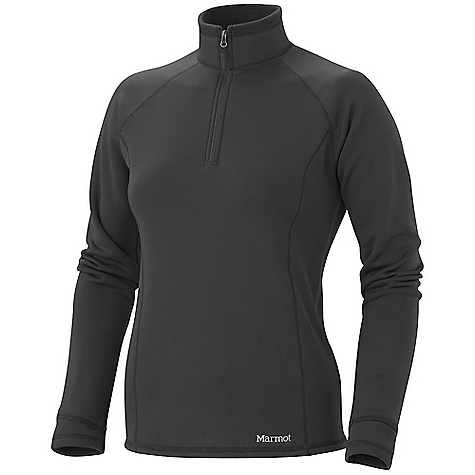 Free Shipping. Marmot Women's Power Stretch Half-Zip DECENT FEATURES of the Marmot Women's Power Stretch Half-Zip Polartec Power Stretch Flat Lock Construction Cuffs with Integrated Thumb Holes The SPECS Weight: 6.5 oz / 184.3 g Center Back Length: 25.5in. Fit: Athletic Fit Material: Polartec Power Stretch 91% Polyester, 9% Elastane 5.9 oz/yd - $99.95