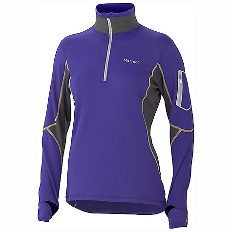 On Sale. Free Shipping. Marmot Women's Deviate 1-2 Zip DECENT FEATURES of the Marmot Women's Deviate 1/2 Zip Comfortable, Breathable, Light Weight Performance Nylon Stretch Knit Fabric Ultraviolet Protection Factor (UPF) 50 Abrasion Resistant Nylon Flat-Locked Seams for Added Comfort Secure Zip Sleeve Pocket with Reflective Overtape Thumbholes Droptail Hem for Increase Coverage Reflectivity The SPECS Weight: 10 oz / 283.5 g Material: 94% Nylon, 6% Elastane 8.0 oz/ yd Center Back Length: 26.75in. Fit: Regular - $65.99