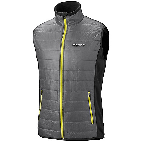 Free Shipping. Marmot Men's Variant Vest DECENT FEATURES of the Marmot Men's Variant Vest Thermal R Insulation Polartec Power Stretch in Back Zip Hand Pockets Angel- Wing Movement The SPECS Weight: 9.4 oz / 266.5 g Center Back Length: 27.25 in. Fit: Athletic 100% Nylon Double Rip 0.9 oz/ yd Polartec Power Stretch 88% Polyester 12% Elastane 6.8 oz/yd - $139.95