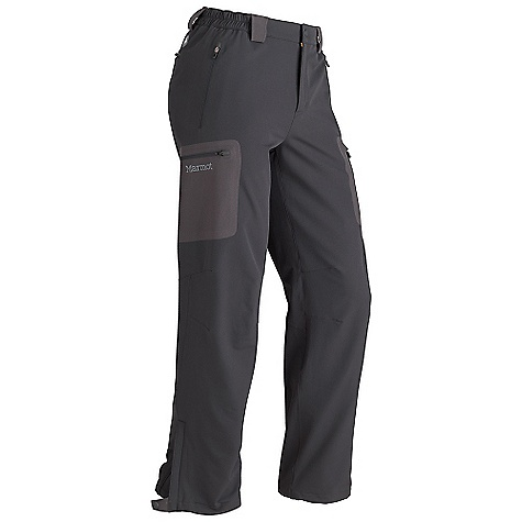 On Sale. Free Shipping. Marmot Men's Durango Pant DECENT FEATURES of the Marmot Men's Durango Pant Marmot M3 Soft-shell Water Repellent and Breathable Zippered Hand Pockets Zippered Cargo Pockets Zippered Back Pocket Articulated Knees Elastic Waist with Snap Closure and Zip Fly Ankle Zippers Belt Loops The SPECS Fit: Athletic Material: Soft-shell Double Weave 91% Nylon, 9% Elastane Stretch 7.1 oz/yd - $121.99