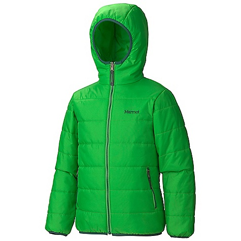 Free Shipping. Marmot Boys' B Side Hoody DECENT FEATURES of the Marmot Boys' B Side Hoody UpCycle 30 Denier Fabric Thermal R Eco Insulation Attached Hood DriClime Lined Chin Guard Zippered Hand warmer Pockets Zippered Chest Pocket Angel-Wing Movement The SPECS Weight: 10 oz / 283.5 g Material: 100% Nylon Mini Ripstop DWR 1.6 oz/yd (Liner), 100% Nylon Ripstop Embossed DWR 1.4 oz/yd Fit: Regular - $89.95