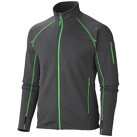 On Sale. Free Shipping. Marmot Men's Power Stretch Jacket DECENT FEATURES of the Marmot Men's Power Stretch Jacket Polartec Power Stretch Flat Lock Construction Zip Sleeve Pocket The SPECS Weight: 11.3 oz / 320.3 g Center Back Length: 27in. Fit: Athletic Material: Polartec Power Stretch 88% Polyester, 12% Elastane 6.8 oz/yd - $73.99