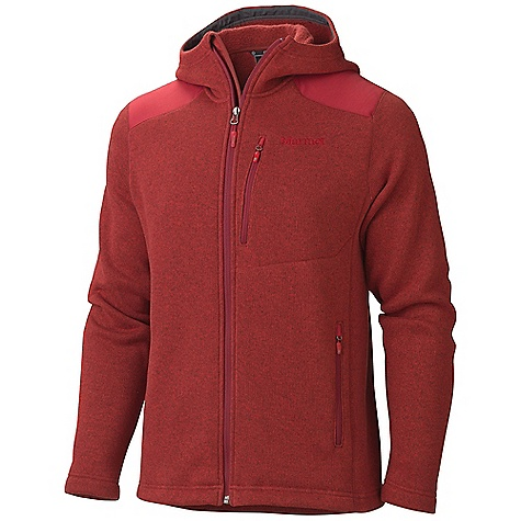 Free Shipping. Marmot Men's Norhiem Hoody DECENT FEATURES of the Marmot Men's Norhiem Hoody Sweater Knit Fleece Nylon Reinforcement Zippered Chest Pocket Zippered Hand warmer Pockets Elastic Draw Cord Hem The SPECS Weight: 1 lb 4 oz / 567 g Material: 100% Polyester Fleece Heather 8.4 oz/yd Center Back Length: 28.25in. Fit: Regular - $144.95