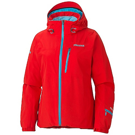 On Sale. Free Shipping. Marmot Women's Innsbruck Jacket DECENT FEATURES of the Marmot Women's Innsbruck Jacket Gore-Tex Performance Shell 100% seam taped 2-layer construction Zip-off Storm Hood with Laminated Brim PitZips Articulated Center Front Water Resistant Zip Zippered Handwarmer Pockets Chest Pocket with Water-Resistant Zipper Sleeve Pass Pocket with Water Resistant Zip Zip-off Powder Skirt Zippered Sunglass Pocket Inside Mesh Goggle Pocket Internal E -Pocket HD Brushed Tricot Collar and Shoulder Lining Elastic Draw Cord Hem Adjustable Velcro Cuff Angel-Wing Movement The SPECS Weight: 1 lb 9.4 oz / 720.1 g Material: Gore-Tex Performance 2L 100% Polyester3.5 oz/yd Center Back Length: 26.25in. Fit: Regular - $245.99