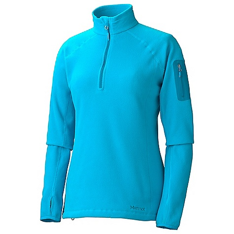 Free Shipping. Marmot Women's Flashpoint 1-2 Zip DECENT FEATURES of the Marmot Women's Flashpoint 1/2 Zip Polartec Classic 100 Micro Flat Lock Construction Zippered Sleeve Pocket Elastic Bound Cuffs Elastic Draw Cord Hem The SPECS Weight: 7.9 oz / 224 g Center Back Length: 26in. Fit: Regular Polartec Classic 100 100% Polyester Micro Fleece 4.6 oz/yd - $84.95