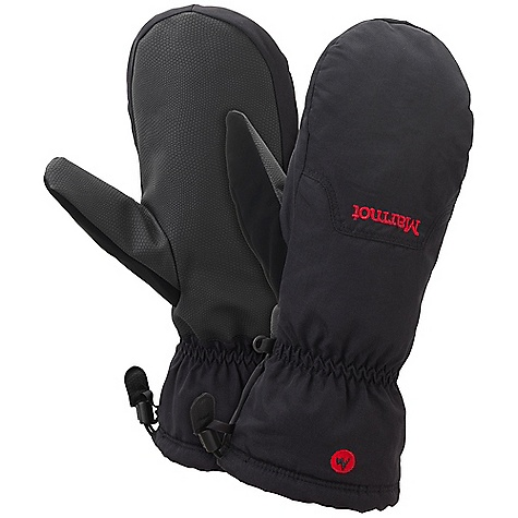 Marmot On-Piste Mitt DECENT FEATURES of the Marmot On-Piste Mitt Marmot MemBrain Waterproof/Breathable Insert Wrist Tightening Elastic and Gauntlet Drawcord to Keep Snow Out Thermal R Insulation Falcon Grip Nose wipe The SPECS Weight: Large: 5.1 oz / 144 g Material: 320d 100% Nylon 3.7 oz/yd Reinforcement: GripTec Polyurethane Reinforcement Lining: DriClime 3-Dimentional Wicking Lining Insulation: Thermal R Glove Insert: MemBrain Mitt Insert - Waterproof, Breathable and Windproof - $44.95