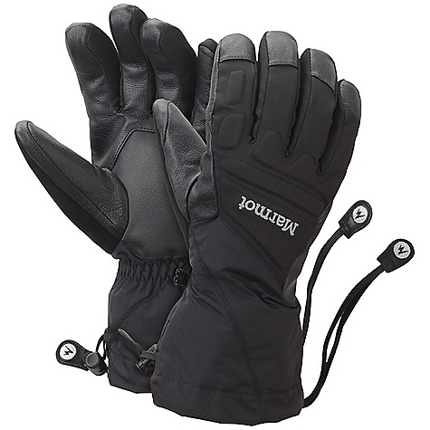 Free Shipping. Marmot U-Notch Glove DECENT FEATURES of the Marmot U-Notch Glove Marmot MemBrain Waterproof/Breathable Insert PU Reinforced Palm Protective Foam Padding in Critical Impact Zones DriClime Bi-Component Wicking Lining Wrist Tightening Elastic and Gauntlet Drawcord to Keep Snow Out Thermal R Insulation Nose wipe Safety Leash Updated Design Falcon Grip The SPECS Weight: Large: 7 oz / 218 g Material: 320d 100% Nylon 3.7 oz/yd Reinforcement: Washable Leather 0.6 - 0.8mm Lining: DriClime 3-Dimentional Wicking Lining Insulation: Thermal R Glove Insert: MemBrainGlove Insert - Waterproof, Breathable and Windproof - $79.95