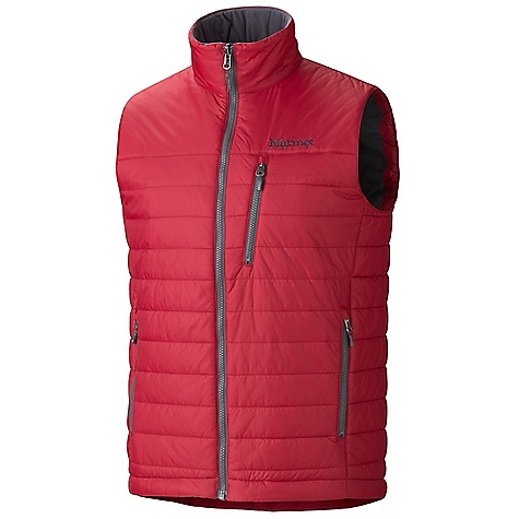 Free Shipping. Marmot Men's Caldera Vest DECENT FEATURES of the Marmot Men's Caldera Vest Thermal R Eco Insulation Zippered Hand Pockets Zippered Chest Pocket Interior Zippered Pocket DriClime Lined Collar and Chin Guard Elastic Draw Cord Hem The SPECS Weight: 10 oz / 283.5 g Material: 100% Nylon Ripstop DWR 1.4 oz/yd - $119.95