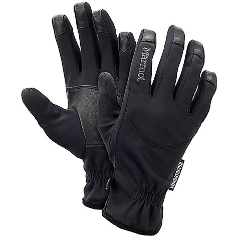Marmot Women's Evolution Glove DECENT FEATURES of the Marmot Women's Evolution Glove Marmot M1 Softshell Fabric Leather Reinforced Palm Falcon Grip The SPECS Weight: 1.6 oz / 46 g Windstoppers Softshell 100% Polyester Stretch 5.4 oz/yd Reinforcement: Washable Leather 0.6 - 0.8mm - $44.95