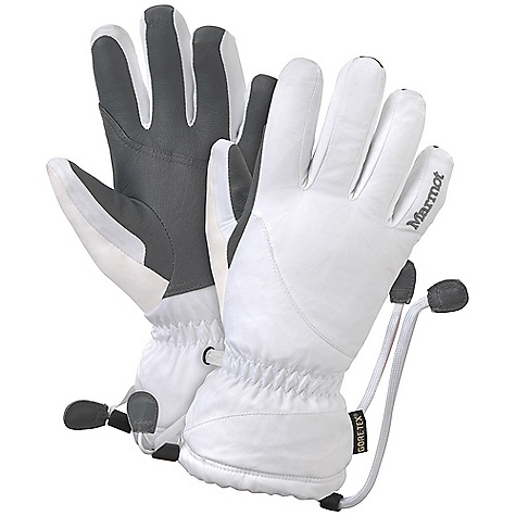 Free Shipping. Marmot Women's Flurry Glove DECENT FEATURES of the Marmot Women's Flurry Glove Gore-Tex Waterproof / Breathable Glove Insert Dri-Clime Bi-Component Wicking Lining High Loft Fleece Lining Falcon Grip Gauntlet Quickdraw Nose wipe Safety Leash The SPECS Weight: 7.4 oz / 209.8 g Reinforcement: Washable Leather 0.6 - 0.8mm Lining: High Loft Fleece for Increased Warmth and Comfort Insulation: Thermal R Glove Insert: Gore-TexGlove Insert - Durably Waterproof, Windproof and Breathable MemBrain10 2L 100% Nylon 4.3 oz/yd - $84.95