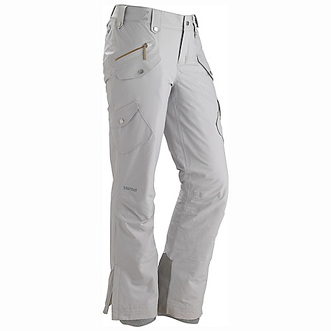 On Sale. Free Shipping. Marmot Women's Divine Pant DECENT FEATURES of the Marmot Women's Divine Pant Marmot MemBrain Waterproof/Breathable Fabric 100% seam taped 2-layer construction Thermal R Insulation Flapped Hand Pockets Flapped Cargo Pockets Inseam Zippered Leg Vents Adjustable Waist with Snap Closure and Zip Fly Reversed Brushed Tricot Seat and Thighs Internal Gaiters with Gripper Elastic Ankle Zippers Cordura Scuff Guard The SPECS Weight: 1 lb 3.8 oz / 561.3 g Fit: Slim MemBrain 2L 100% Nylon Plain Weave 2.7 oz/yd - $121.99